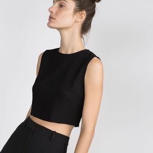 NWT Zara Basic Crop Top